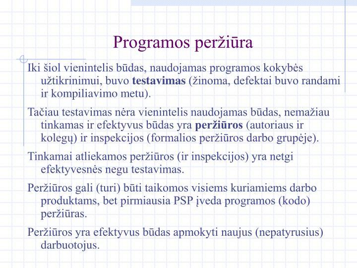Programos peržiūra