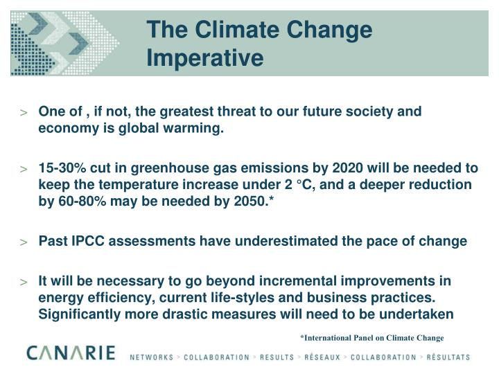 The climate change imperative