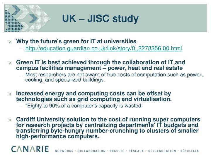 UK – JISC study