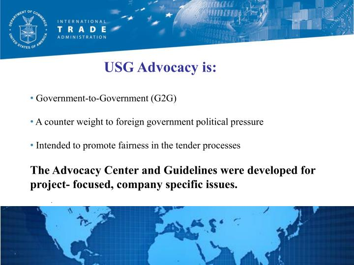 USG Advocacy is: