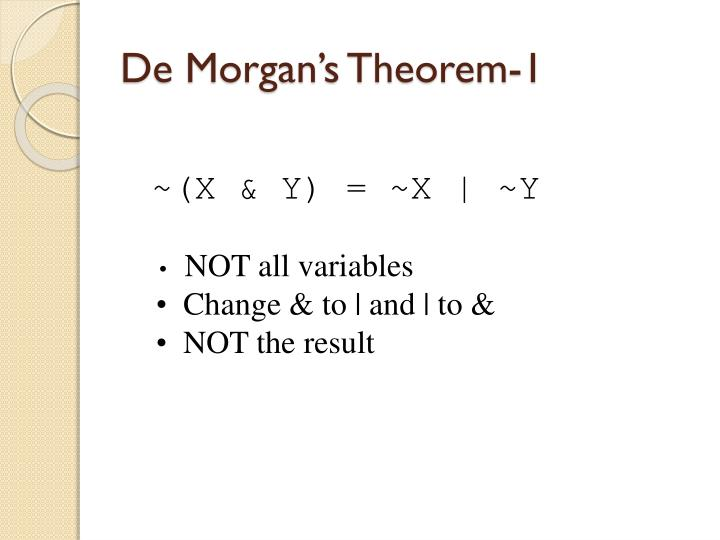De Morgan's Theorem-1