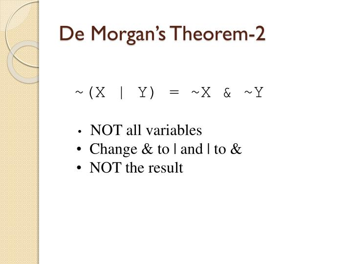 De Morgan's Theorem-2