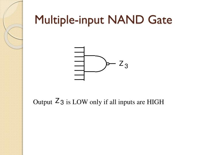 Multiple-input NAND Gate