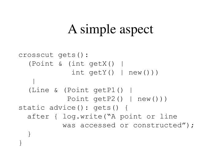 A simple aspect