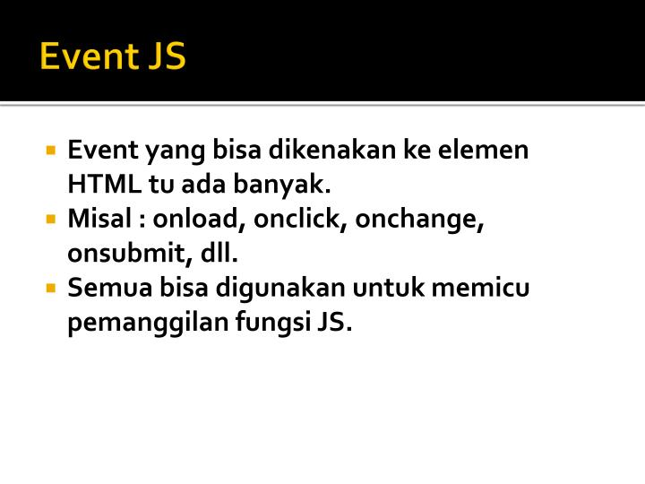Event JS