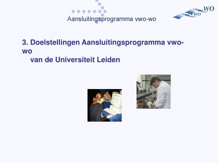 3. Doelstelling
