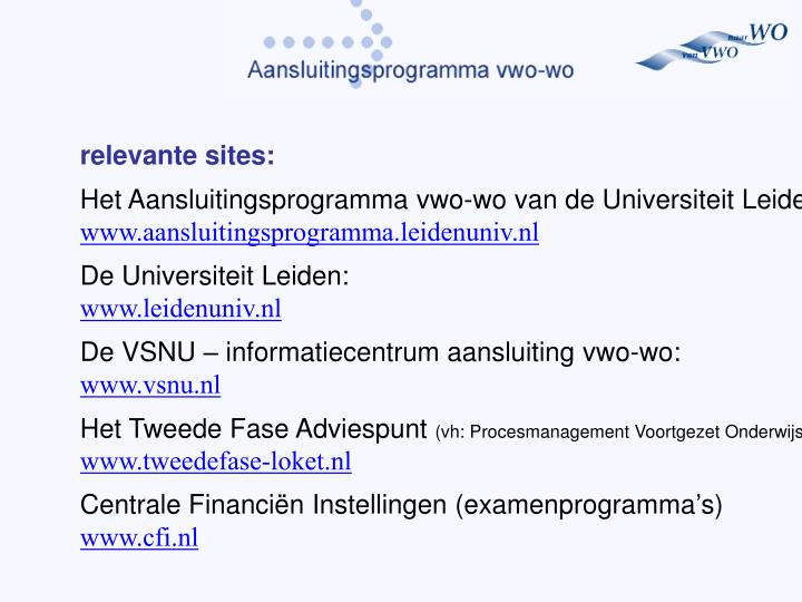 relevante sites: