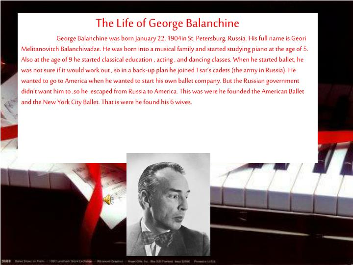The Life of George Balanchine