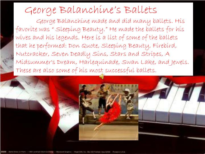 George Balanchine's Ballets