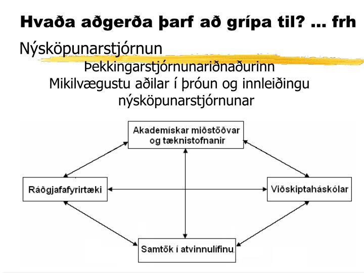 Hvaða aðgerða þarf að grípa til? … frh