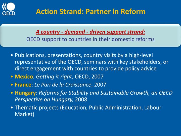 Action Strand: Partner in Reform