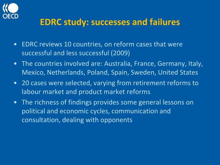 EDRC study: successes and failures