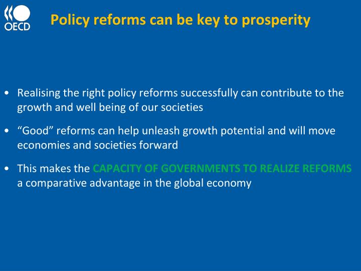 Policy reforms can be key to prosperity