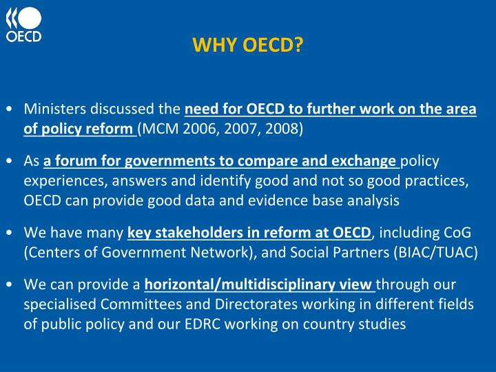WHY OECD?