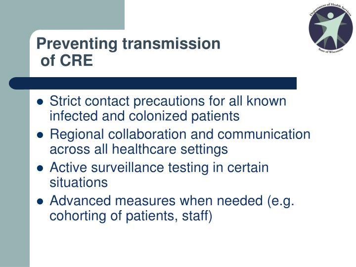 Preventing transmission