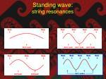 standing wave string resonances