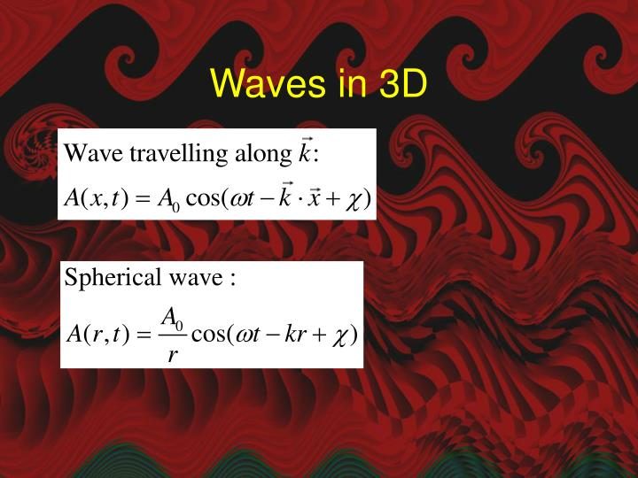 Waves in 3D