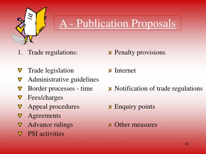 Trade regulations: