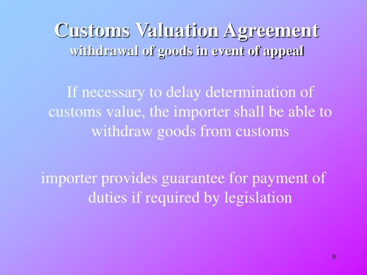 Customs Valuation Agreement