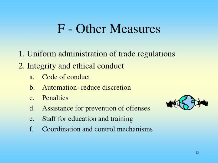 F - Other Measures