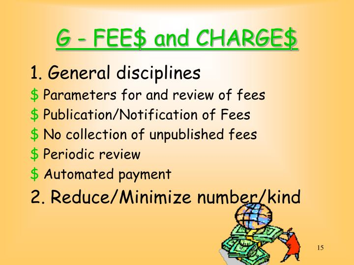 G - FEE$ and CHARGE$