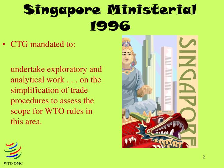 Singapore ministerial 1996