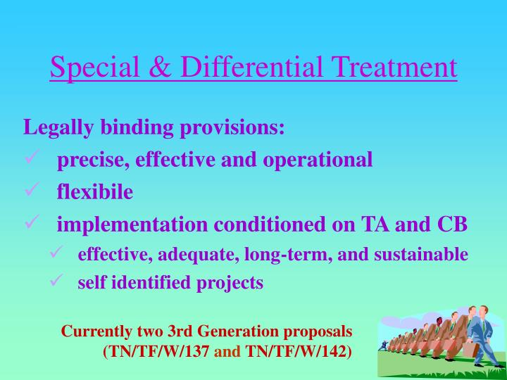 Special & Differential Treatment