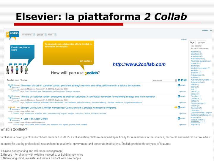 Elsevier: la piattaforma