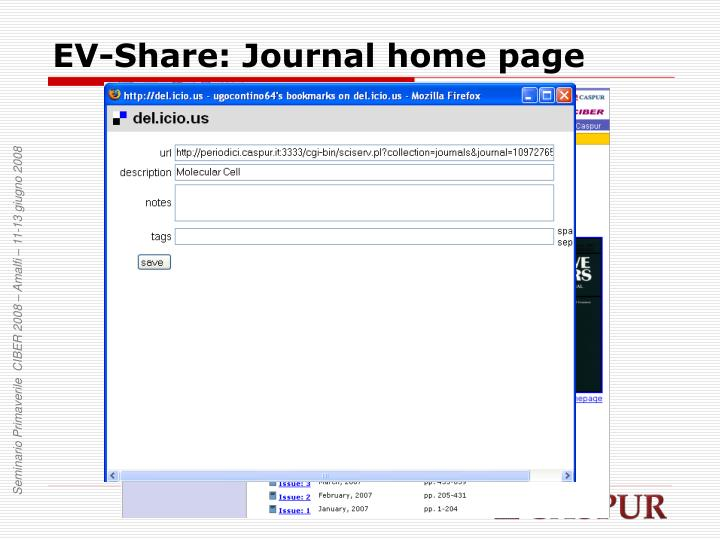 EV-Share: Journal home page