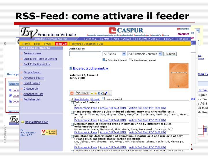 RSS-Feed: come attivare il feeder