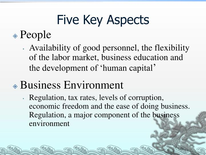 Five Key Aspects