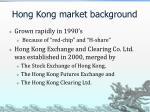 hong kong market background
