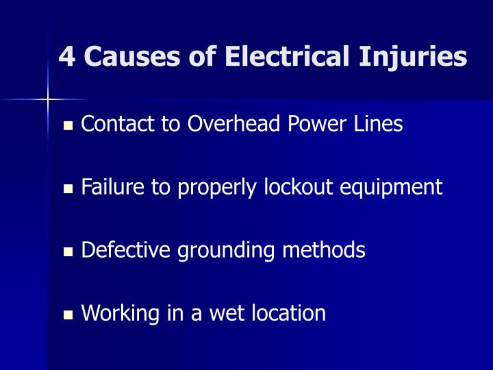 4 Causes of Electrical Injuries