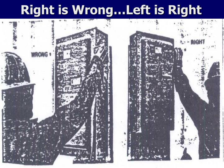 Right is Wrong…Left is Right