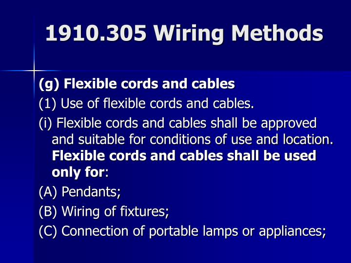 1910.305 Wiring Methods