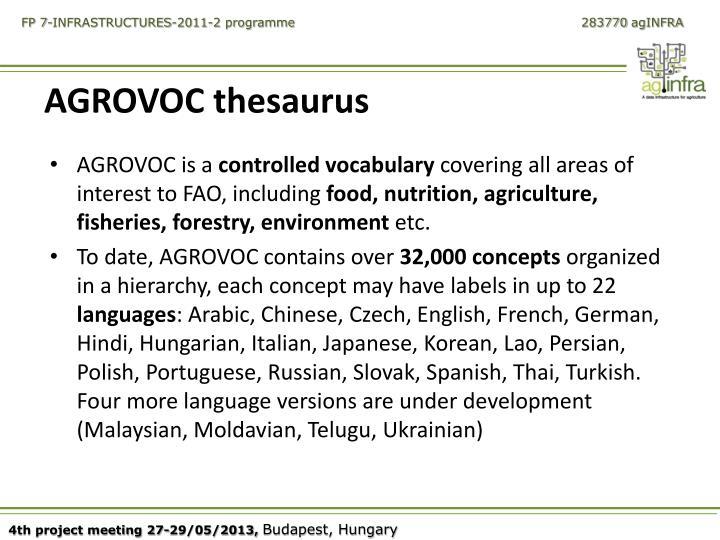 AGROVOC thesaurus