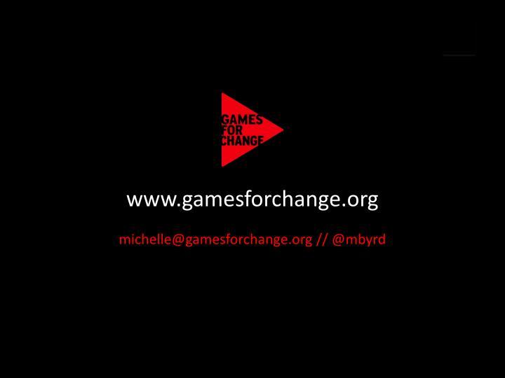 www.gamesforchange.org