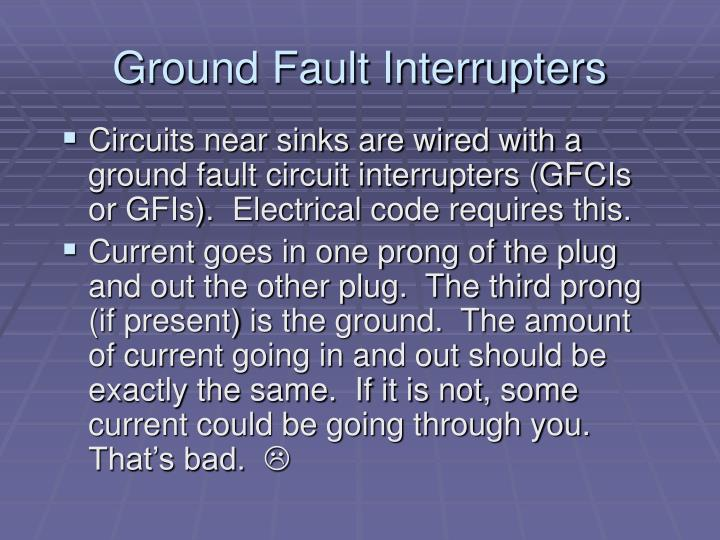 Ground Fault Interrupters