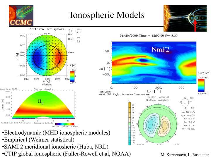 Ionospheric Models