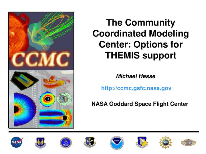 The Community Coordinated Modeling Center: Options for THEMIS support