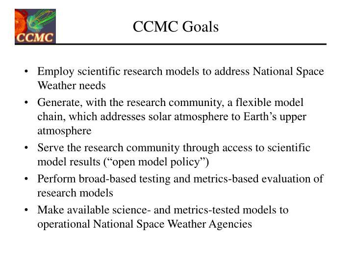 CCMC Goals