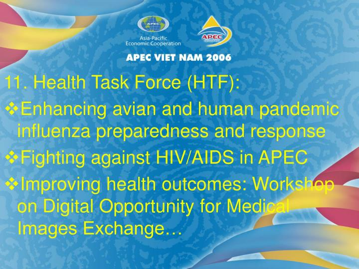 11. Health Task Force (HTF):