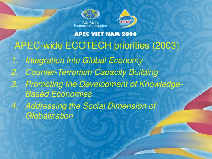 Integration into Global Economy