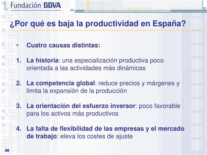 ¿Por qué es baja la productividad en España?