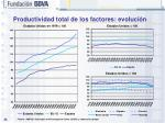 productividad total de los factores evoluci n