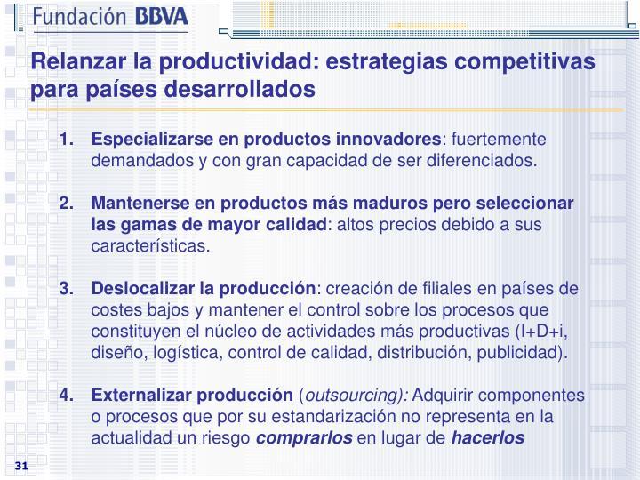 Relanzar la productividad: estrategias competitivas para países desarrollados
