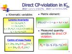 direct cp violation in k 3
