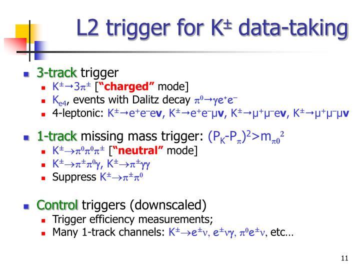 L2 trigger for K