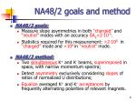 na48 2 goals and method
