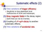 systematic effects 2